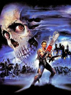 Evil Dead / Army of Darkness Evil Dead Trilogy, Evil Dead Series, Horror Icons, Horror Movie Posters, Bruce Campbell Evil Dead, Ash Evil Dead, Horror Artwork, Cinema Tv, Classic Horror Movies