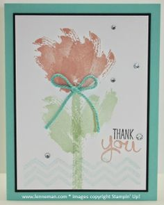Work Of Art Flower- Dena Lenneman, Stampin' Up! Demonstrator
