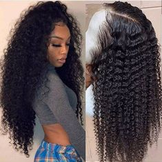 Lace Frontal Wig Curly Human Hair Wigs For Women Kinky Curly 360 Lace Front Human Hair Wigs Brazlian Virgin Hair Hair Curly Lace Front Wigs, Human Hair Lace Wigs, Front Lace, Frontal Hairstyles, Wig Hairstyles, 1950s Hairstyles, Winter Hairstyles, Medium Hairstyles, Black Hairstyles