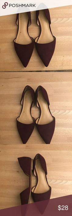 Dolce vida suede maroon pointy flats Dolce vida suede maroon pointy flats Dolce Vita Shoes Flats & Loafers