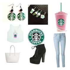 """""""Starbucks"""" by kylee2005 ❤ liked on Polyvore featuring interior, interiors, interior design, home, home decor, interior decorating, Frame Denim and Breckelle's"""