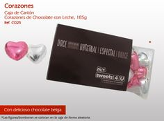 ¡Ofrecer corazones de chocolate a una persona muy importante para usted! White Out, Chocolate Hearts, Crates, Sweets