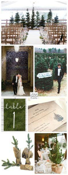 Rustic Fir Tree Farm Christmas Wedding #IdeaBoard #InspirationBoard