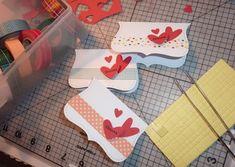 131.Stampin'UPのパンチでハートのミニカード&ハートのミニタグ   簡単手作りカード Chocolate Card Factory
