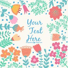Flowers vector layout Free Vector