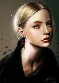 Fantasy Images, Art Images, Fantasy Art, Muse Magazine, Silverpoint, Digital Portrait, Digital Art, Digital Paintings, Face Light