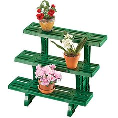Collections Etc Versatile 3 Tier Plant Stand, Green Lawn And Garden, Garden Pots, Corner Plant, Vendor Displays, Collections Etc, Raised Garden Beds, Outdoor Gardens, Planter Pots, Green