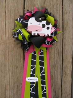 cow baby shower-baby shower corsage on Etsy, $18.99