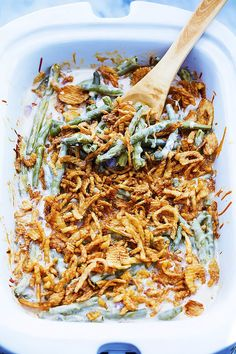 Green Bean Casserole // Thanksgiving slow cooker recipe