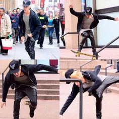 here's a picture of Bieber making a complete fool out of himself. you're welcome.