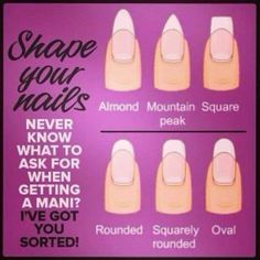 Shape your nails girl! #manitips #manicure - See more nail looks at bellashoot.com & share your faves!