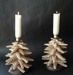 Seashell Bathroom Accessories Decor | Candle Holders | Seashell Mirrors