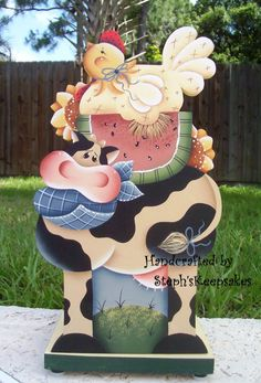 Handpainted Summertime on the Farm Paper Towel Holder
