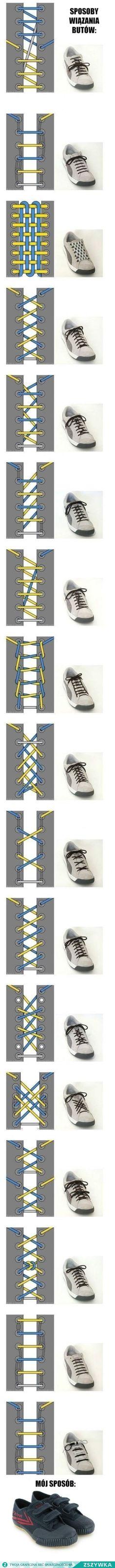 Zobacz zdjęcie Dosyć ciekawe sposoby na wiązanie butów w pełnej rozdzielczości