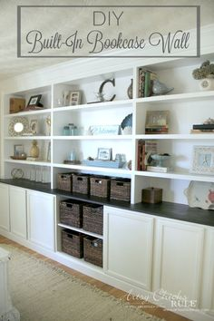 diy built in bookcase reveal - Built In Bookshelves Diy