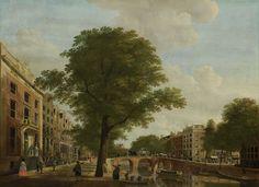 Gezicht op de Herengracht bij de Leidsestraat te Amsterdam, Hendrik Keun, 1774