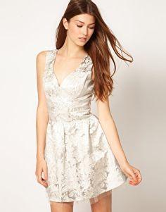 Lipsy Brocade Prom Dress