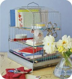 Image detail for - bird-cage-letter-organizer-idea-stationary-holder-shabby-cute-easy ...