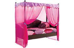 AffordableCanopy Twin Beds-Girls Room Furniture