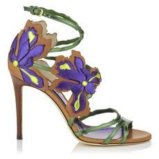 The Jimmy Choo LOLITA Sandal. We're crushin' on th8s violet and green botanical shoe! Enjoy RUSHWORLD boards, UPTOWN SHOES, WEDDING GOWN HOUND and UNPREDICTABLE WOMEN HAUTE COUTURE. Follow RUSHWORLD! We're on the hunt for everything you'll love!