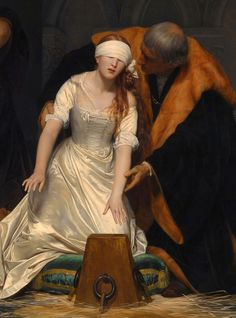 Paul Delaroche, The Execution of Lady Jane Grey, 1833. Detail. The National Gallery, London, UK.
