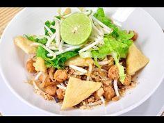 [Thai Food] Fried Wide Rice Noodles [Vegetarian] - (Pad Thai Jay)