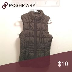 dark olive vest Perfect condition. Worn only once. Jackets & Coats Vests