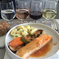 Air France oferece o melhor da culinária francesa com uma carta de vinhos e champanhes :: Jacytan Melo Passagens