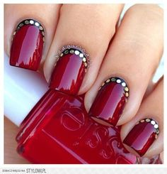 I like the bling at the base of nails!