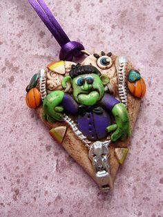 Unusual Polymer Clay Jewelry   Artful Halloween Polymer Clay Jewelry by Marie Segal