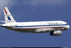 Airbus A320-232, United Airlines, retro Livery