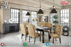 Epic Model Meja Makan Minimalis Jati Natural Klasik Furniture Jepara BT-0836