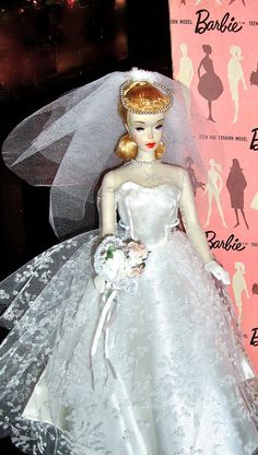 I had this wedding dress for my Barbie. I begged my mother to buy it - it was $5 in 1960/61, which was a fair amount of money then.
