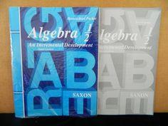 Saxon Math Algebra 1/2 Homeschool Pack 3rd Edition Homeschool /School 8th #TextbookBundleKit