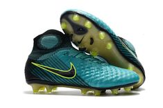 finest selection f7159 de5a2 Nike Magista Obra II FG Soccer Shoes Blue Green Black on  www.newsoccercleats.com