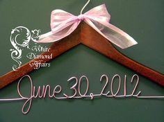 Personalized Wedding Hanger Hanger Wedding by WhiteDiamondAffairs, $22.95