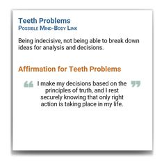 Affirmations for teeth problems - Louise Hay