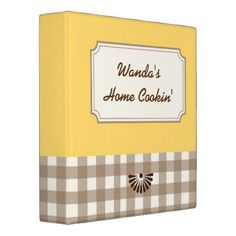 Country Style Gingham Recipe Binder - country gifts style diy gift ideas