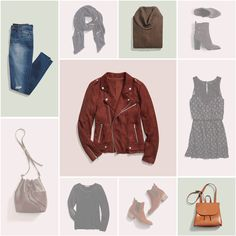 3 Ways to Wear a Moto Jacket... love the jacket and the bottom middle two... the black shirt and those boots.