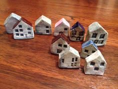 Small ceramic houses by R. Gadsden 2014