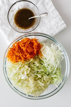Vinegar Coleslaw is an excellent no mayo coleslaw recipe for those who love coleslaw but don't love mayonnaise. It's tangy, not overly sweet and provides the perfect crunch! German Coleslaw Recipe, Classic Coleslaw Recipe, Slaw Recipes, Cabbage Recipes, Beet Recipes, Chicken Recipes, Vinegar Based Coleslaw Recipe, Mayonnaise, No Mayo Coleslaw