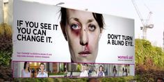 POWERFUL. A U.K. advocacy group is using cutting-edge technology to spread the word on the importance of spotting -- and stopping -- domestic violence.   Women's Aid launched an interactive billboard promoting its cause in London on March 5. The board shows ...