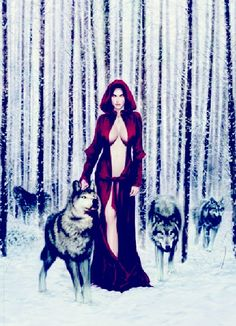 Have always been in tune with nature. Dark Beauty, Gothic Beauty, Little Red Ridding Hood, Red Riding Hood, Wolves And Women, Looks Halloween, Werewolf Art, Wolf Love, Wolf Pictures