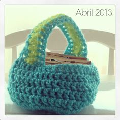 Mis post de abril 2013 Cestita de crochet o ganchillo