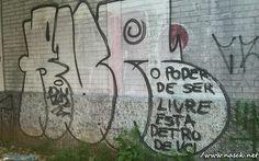 Divagando, Grafite e Design: Liberdade Pichada