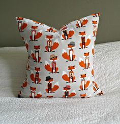 Fox and the Houndstooth Pillow Cover 20x20 by nest2impress