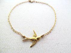 Sparrow Bracelet  Sterling Silver Bird Jewelry by BlueDoveStudio, $20.00