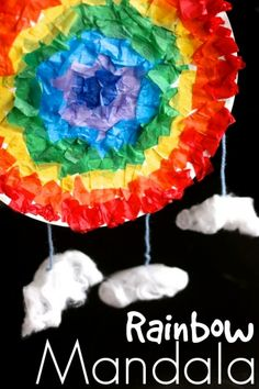 Paper Plater Rainbow Mandala - Happy Hooligans