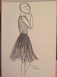 Lace dress, pencil