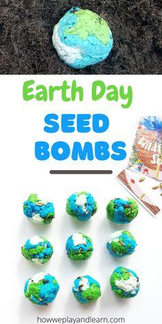 Earth Day Preschool Activities, Preschool Science, Spring Activities, Stem Activities, Preschool Crafts, Toddler Activities, Seed Crafts For Kids, Preschool Learning, Learning Activities
